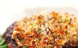 Mozzarella-Stuffed Grilled Portobellos with Balsamic Marinade / Tina Rupp