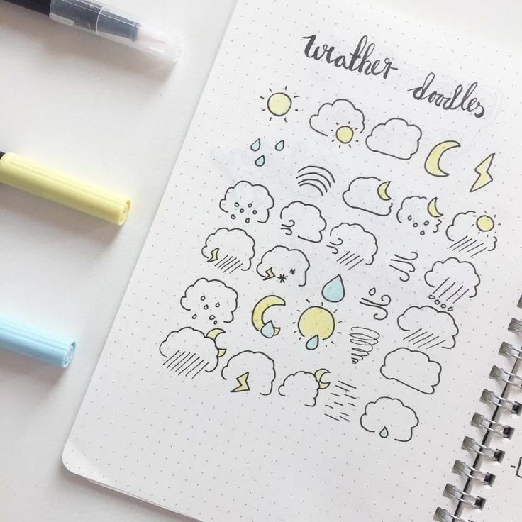 35 Bullet Journal Doodle-Tutorials (1) – Zehn Kata…