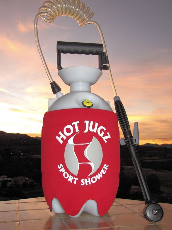 Hot Jugz, Portable Outdoor Shower, San Diego CA  Hot shower while camping...sounds heavenly!