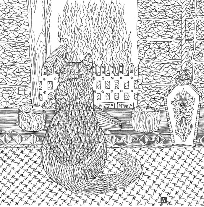 214 Best Images About Cat Coloring Pages On Pinterest