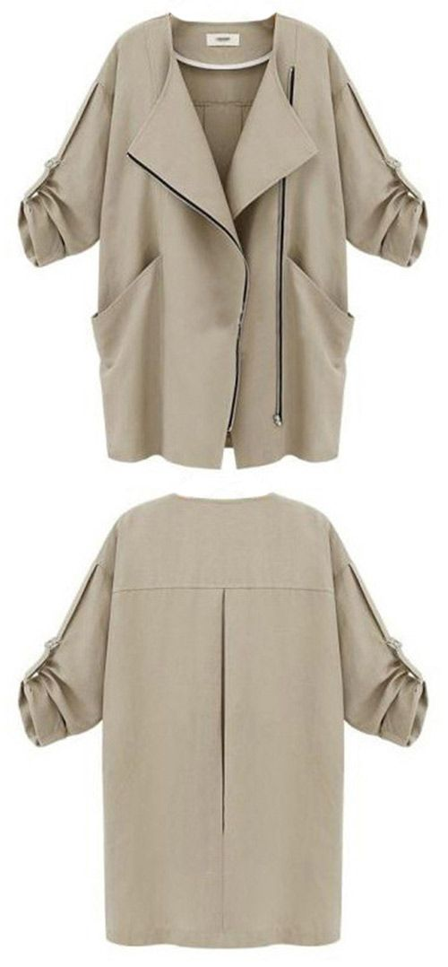 Another wind chaser to get within One week Now! This coat is detailed with special front zipper&big side pockets. Follow the wind with Cupshe.com