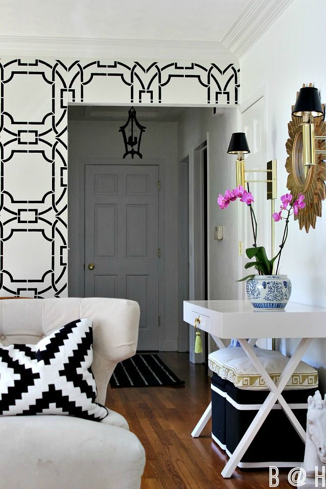 Entry Way Makeover with a High End Look on a Budget