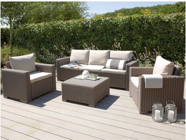 Gartenmobel Set Lounge Gruppe Mombasa Polyrattan Cappuccino Sand 4 Tlg In 2020 Best Outdoor Furniture Rattan Garden Furniture Rattan Garden Furniture Sets