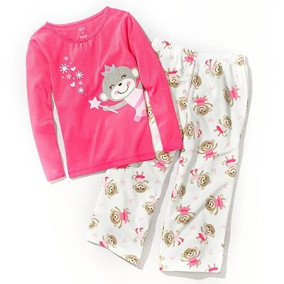 Carter's Ballerina Monkey Pajama Set - Girls