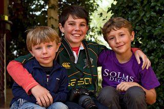 Luc, Jamie and Sam Hamilton.