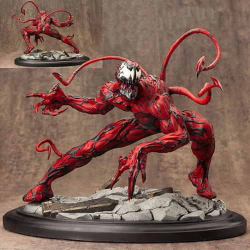 It's The Marvel Fine Art Statues - Maximum Carnage Statue. Kotobukiya proudly presents the Maximum Carnage Fine Art Statue, based on Spider-Man's villain from Marvel Comics! Scultped by the inimitable