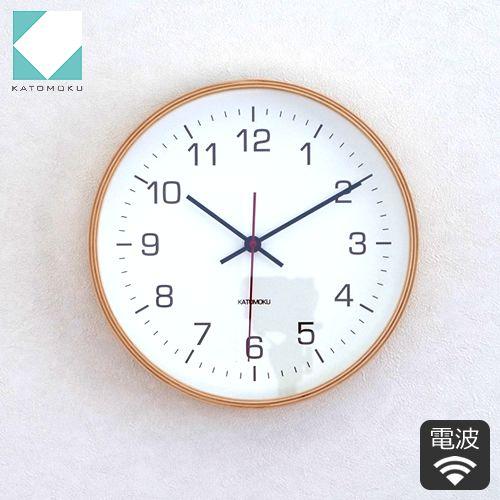 KATOMOKU plywood wall clock 4 電波時計 壁掛け スイープムーブメント / FavoriteStyle