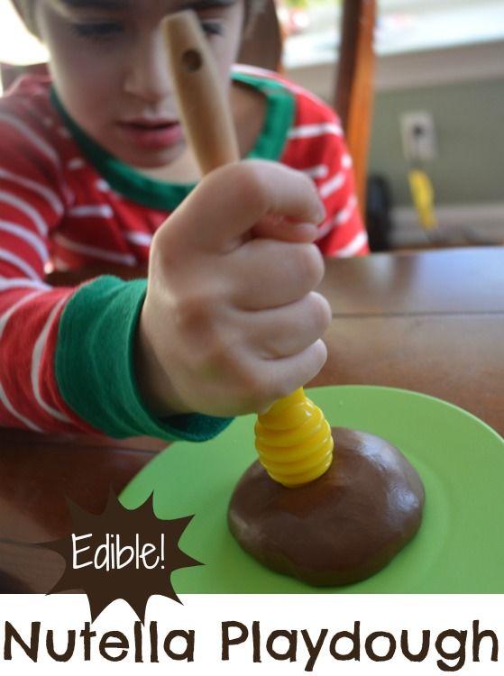 How to Make Nutella Playdough | @Carolyn { Pleasantest Thing }