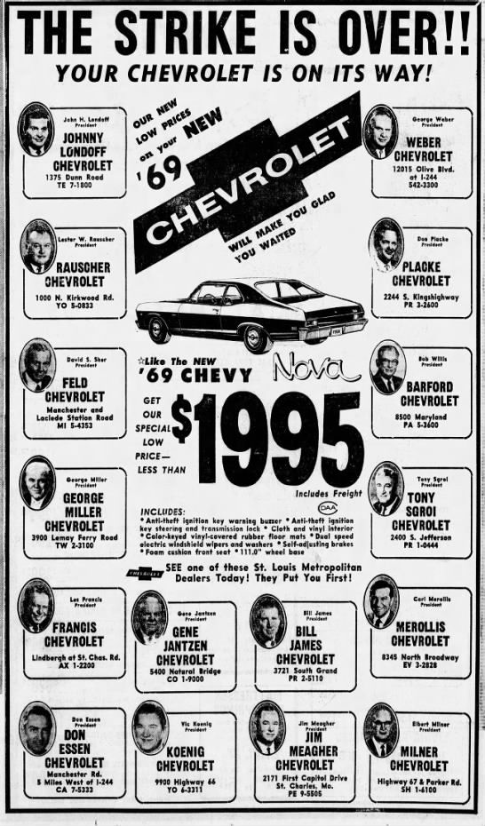 Chevy Dealers St Louis >> Chevy Dealers 1969 St Louis In 2019 Chevy Dealers