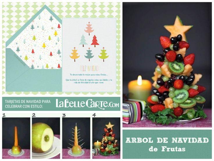 recetas de navidad aperitivo arbol de frutas tarjetas de navidad http
