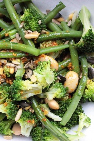 salade broccoli, boter- & sperziebonen & nootjes def1
