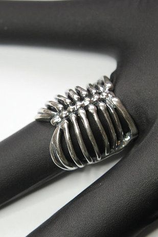 Silver Ribcage Ring | 19 Gorgeous Pieces Of Jewelry Inspired By Human Anatomy