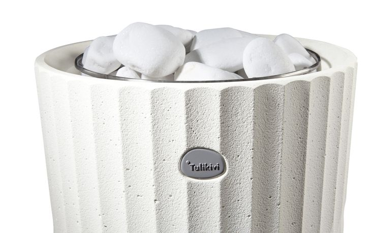 A detail of the cover of Riite sauna heater.