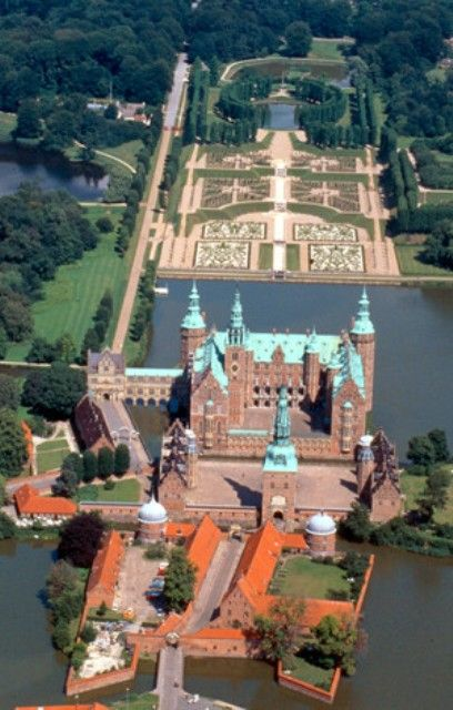 ღღ Frederiksborg Palace or Frederiksborg Castle is a palace in Hillerød, Denmark. It was built as a royal residence for King Christian IV and is now a museum of national history. Source: Wikipedia