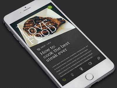 Dribbble - I Love Food by Mike Perry