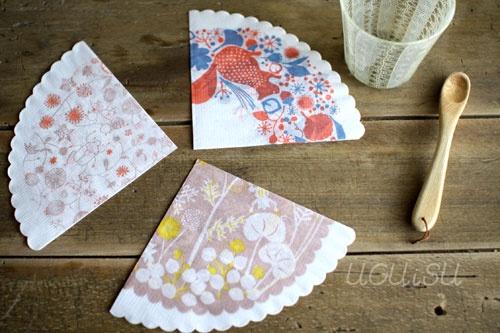 round paper napkins - kita no moyo-cho