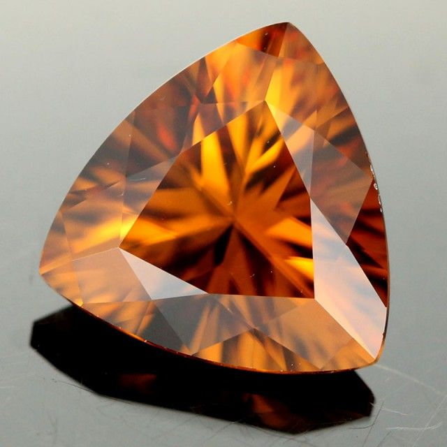3.39cts Honey Zircon | gemstones | zircon | faceted gemstone | coloured gemstones