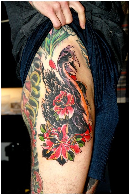 Swan Tattoo Designs: The Amazing Swan Tattoo Designs And Meaning On Thigh ~ tattooeve.com Tattoo Design Inspiration