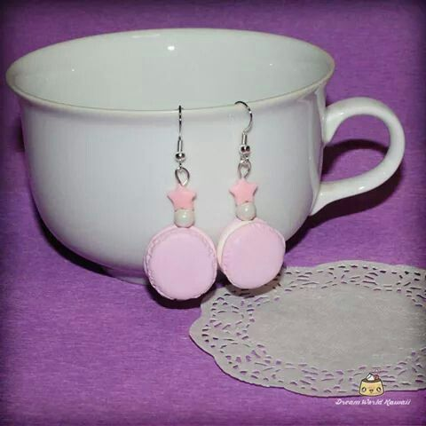 Cute macarons earrings, created with fimo and love <3