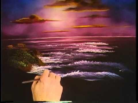 Боб Росс -Учимся рисовать ночное море (2 сезон) - YouTube