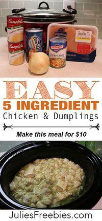 Easy Crock Pot Chicken and Dumplings