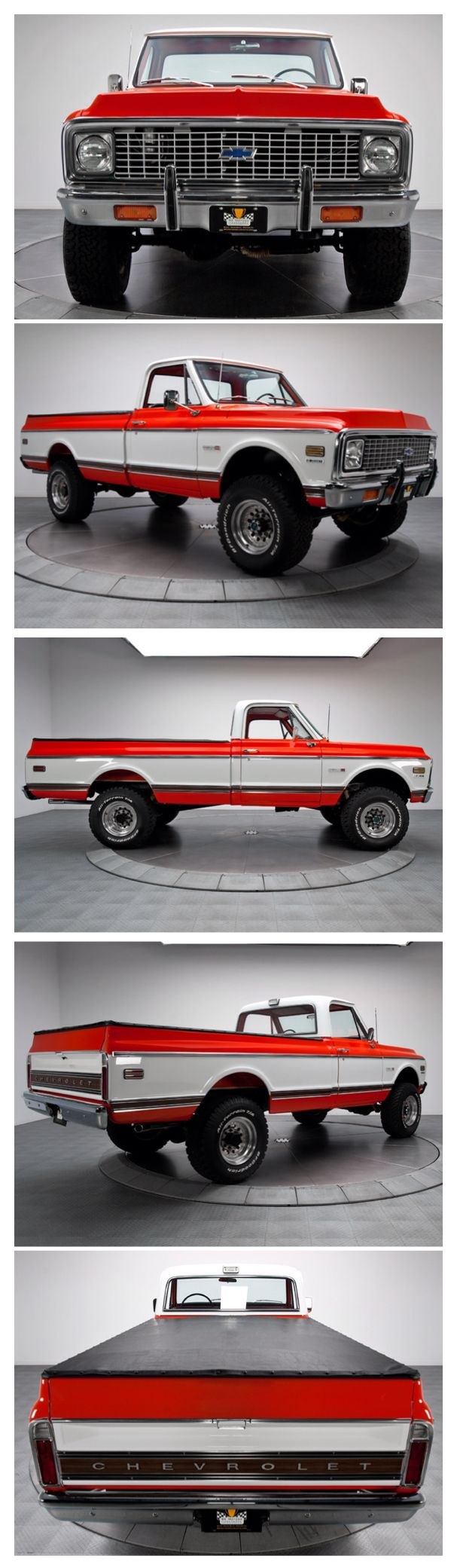 1972 Chevy Pickup K-20- I appreciate the full spin.