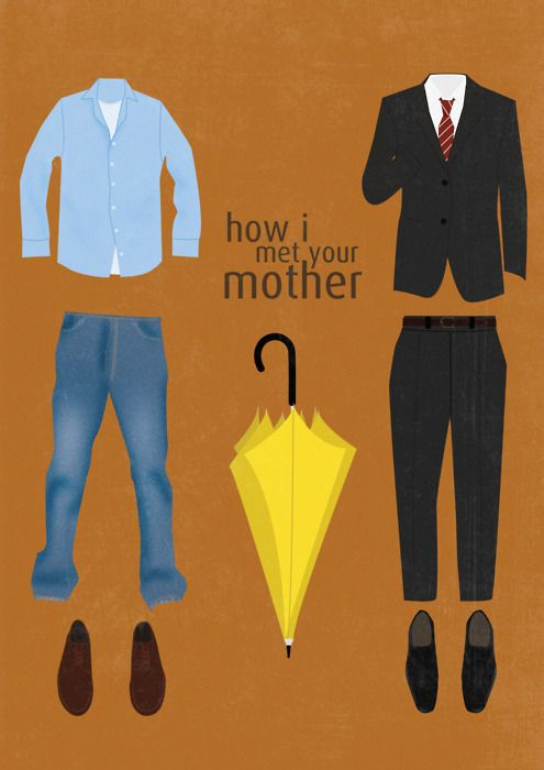 How I Met Your MotherYzabell Wuthrich, Mothers Minimalist Post, Minimalist Posters, Yellow Umbrellas, Cowboy Boots, With, Series Posters, Art Prints, Minimal Movie Posters