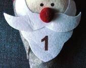 Calendario dell'Avvento cappello Babbo Natale : Accessori casa di valepercolore