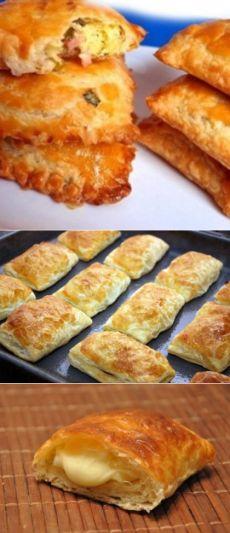Пирожки из слоеного теста с интересными начинками / Простые рецепты