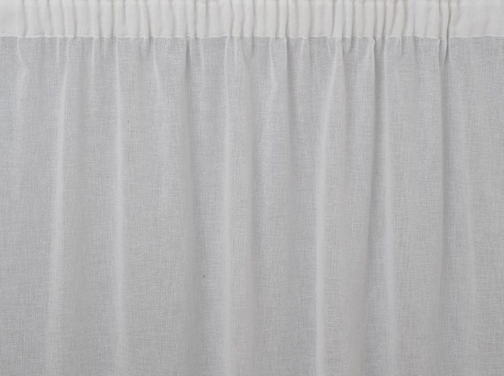 Astoria White Curtains - Plain, natural look and feel voile curtains. These simple curtains have a linen look and are soft to the touch.