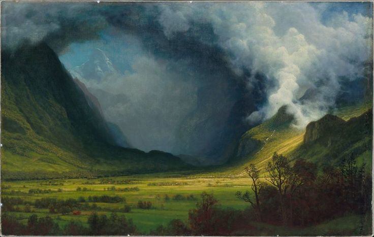 Storm in the Mountains, by  Albert Bierstadt, c. 1870.  Oil on canvas