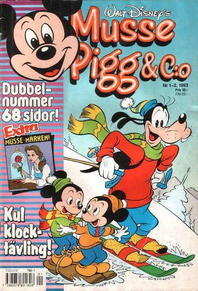 Cover for Musse Pigg & C:o (Serieförlaget [1980-talet], 1993 series) #1-2/1993