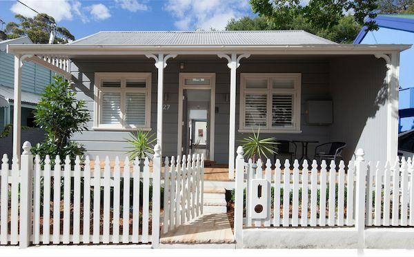 Balmain home exterior -Dulux PGIF4 Timeless Grey - weathershield finish