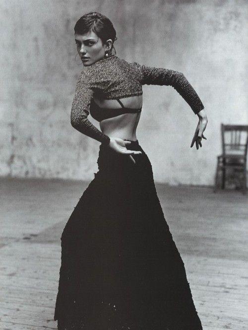 Escuela Flamenca  Vogue España, December 1998  Photographer: Jacques Olivar  Model: Laura Ponte