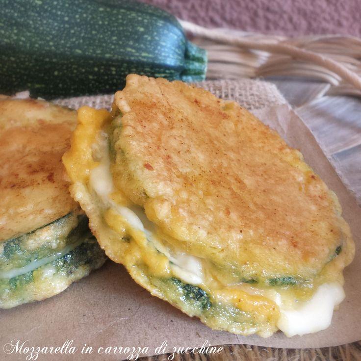 Mozzarella in carrozza di zucchina | Il mondo di Adry