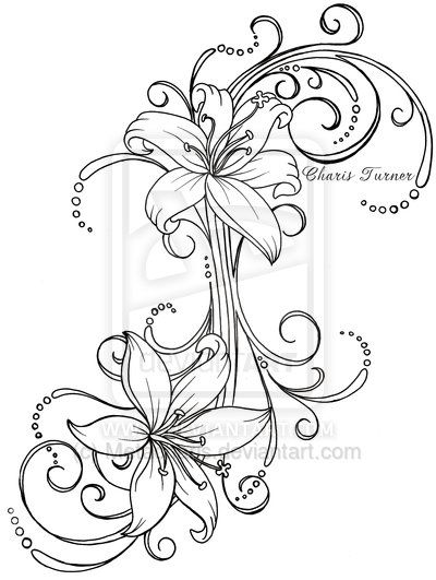 Lily Tattoo by Metacharis.deviantart.com on @deviantART