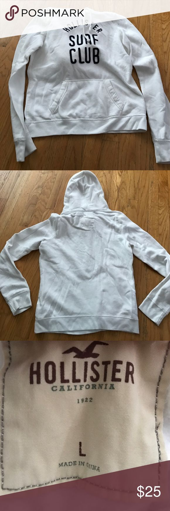 Hollister Sweatshirt! Blue and white Hollister sweatshirt! Great condition but no longer is my style. Only worn twice. Super cozy and comfy for any outfit or season! Please use the offer button! Hollister Tops Sweatshirts & Hoodies