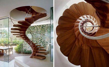 Винтовые лестницы дерево