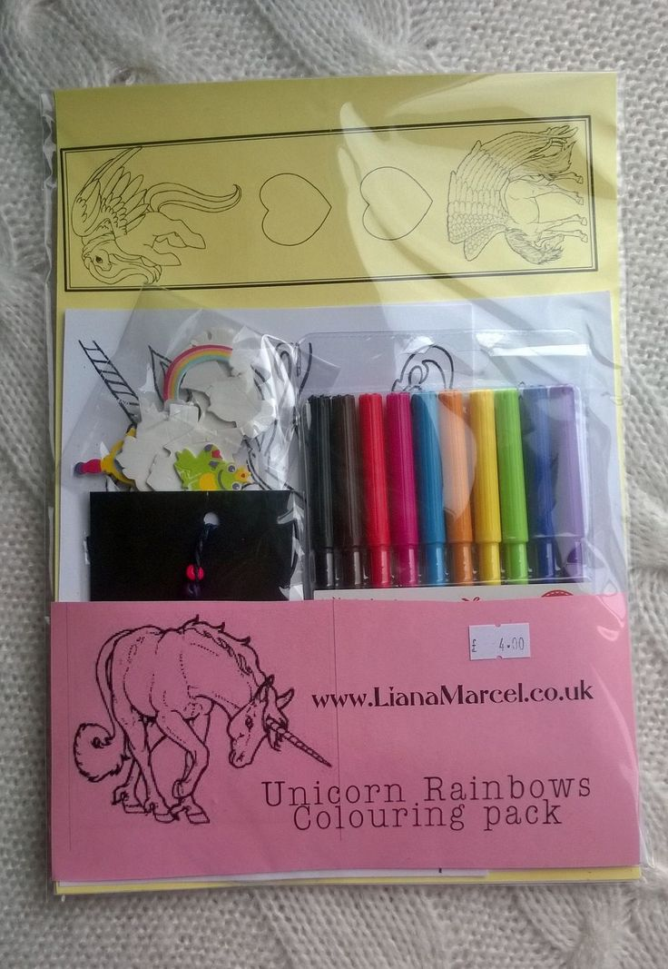 Unicorn rainbow colouring pack via Liana Marcel. Click on the image to see more!