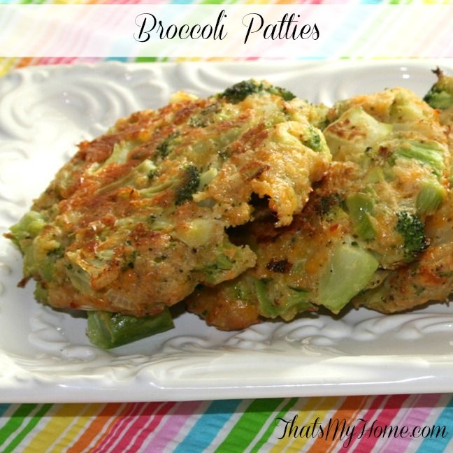 Recipes, Food and Cooking Broccoli Cheese Patties » Recipes, Food and ...