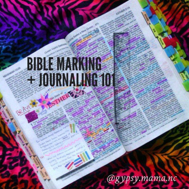 Thoughts on Bible marking and journaling gypsy.mama.nc on Instagram