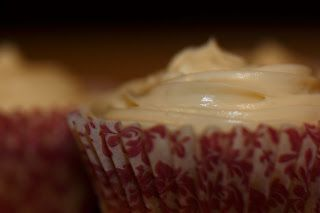 Sweet Potato Cupcakes with a Maple Bourbon Cream Cheese icing!
