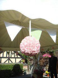 Hanging carnation pomander