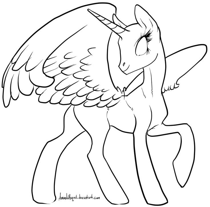 my little pony coloring pages alicorn