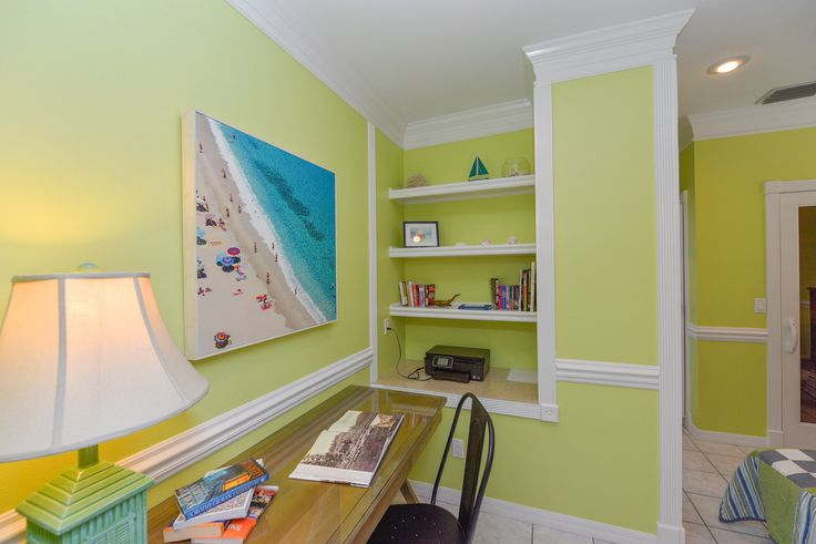 Gorgeous tropical working station at Sirenia By The Sea - waterfront vacation rental on Anna Maria Island, Florida. Visit for more photos and inquire...