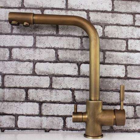Vintage Style Antique Brass Kitchen Faucet Bronze|JollyHome.com