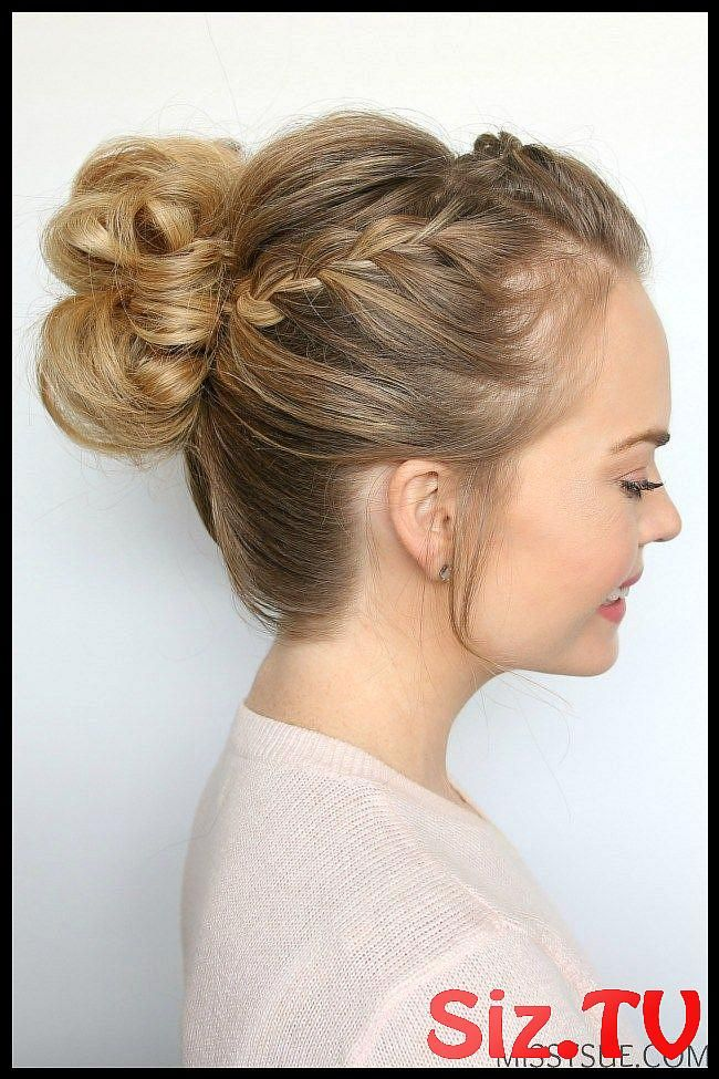 Double Lace Braid High Bun Double Lace Braid High Bun Prom Is Coming Up And I Ve Received Soooo Many Requests For A High Bun Tutorial I Am In Love Wit...
