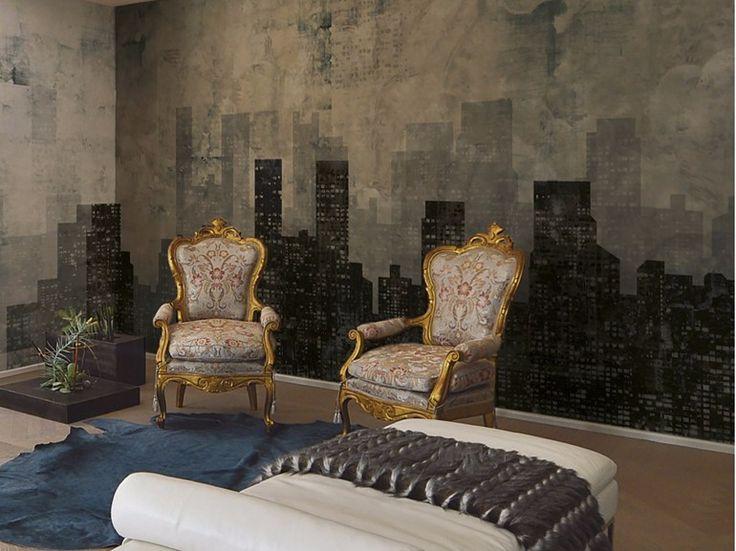 Contemporary style landscape wallpaper SKYSCRAPERS Designers Collection by Inkiostro Bianco design Barbara Varini