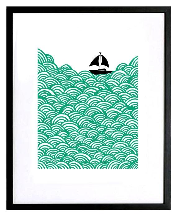 screen print seascape   # Pin++ for Pinterest #