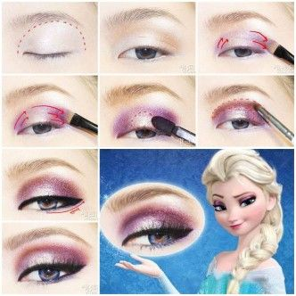 DIY Disney's Frozen Elsa Eyeshadow. If only I were blonde.....